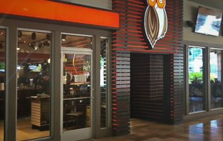 Awnex Featured Project -Architectural Aluminum Wall Screens - Hooters - San Antonio, Texas