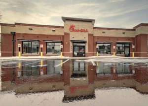 Aluminum Architectural Hanger Rod Canopies - Chick-Fil-A - Smithtown, New York
