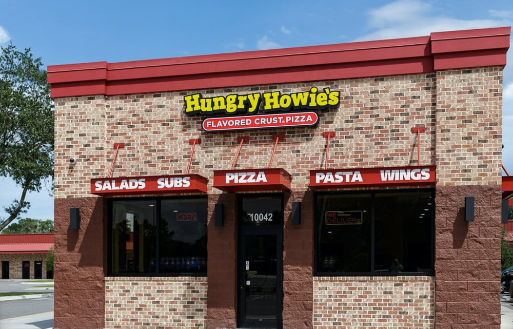 Aluminum Architectural Hanger Rod Canopies - Hungry Howie's - Riverview, Florida