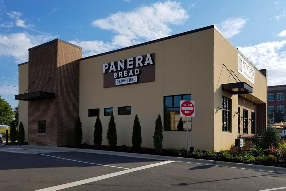 Aluminum Architectural Hanger Rod Canopies - Panera Bread - Clemmons, North Carolina