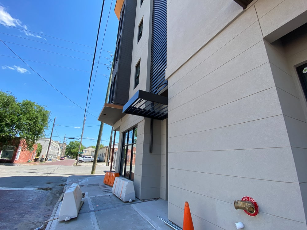 Aluminum Architectural Wall Screens - Mixed Use Building - Savannah, Georgia