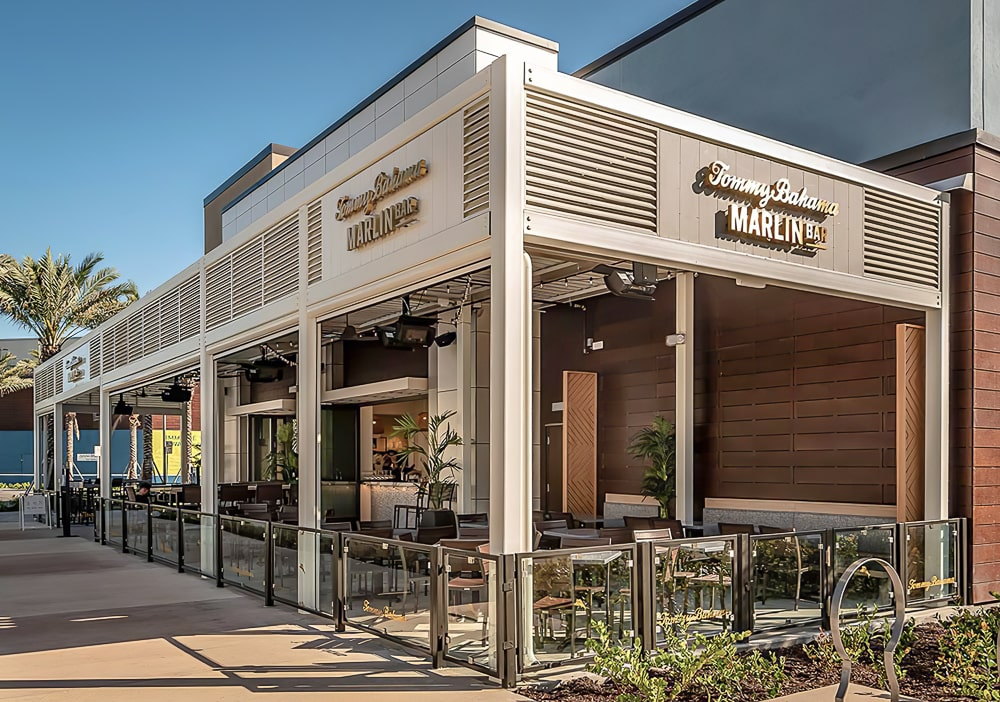 Aluminum Architectural Wall Screens - Tommy Bahama – Dania Point, Florida