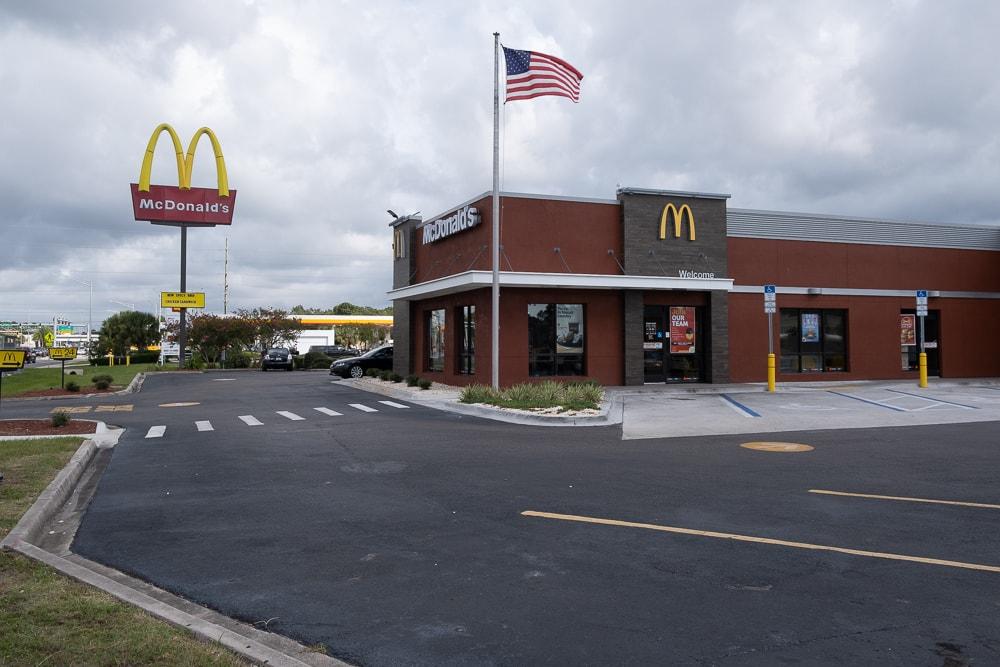 Architectural Hanger Rod Canopies -McDonald's - Jacksonville, Florida