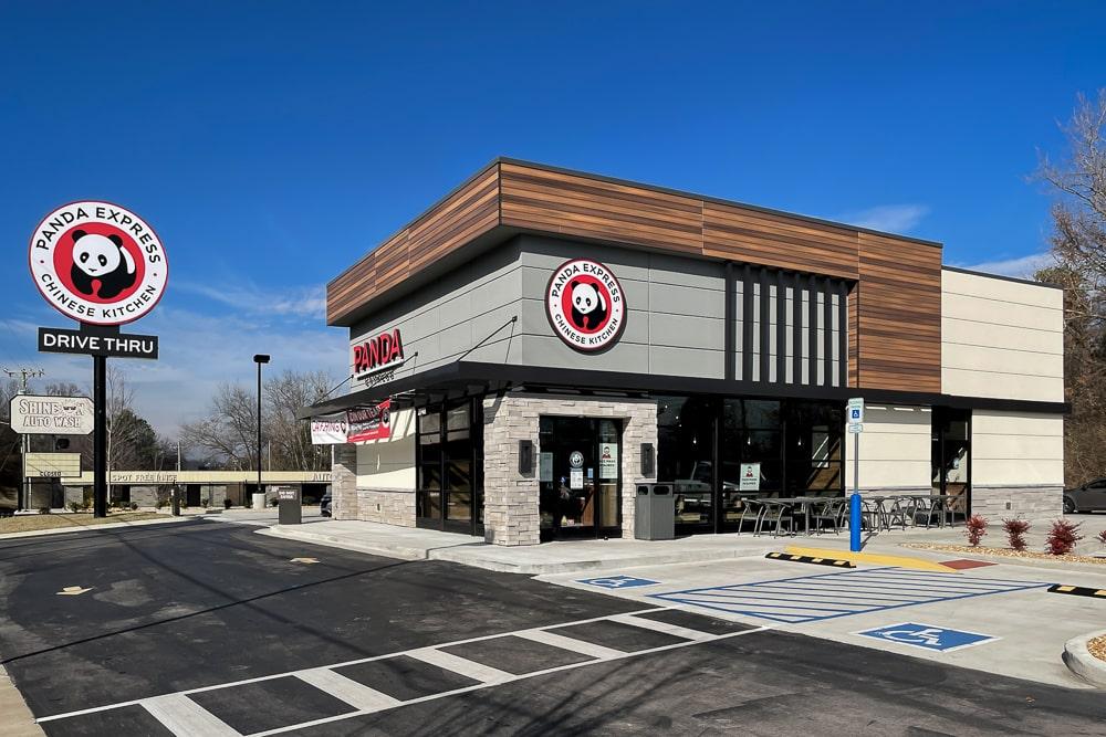 Architectural Hanger Rod Canopies - Panda Express - Nashville, Tennessee
