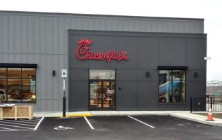 Awnex - Airfoil Sunshade Canopies - Chick-Fil-A - Triadelphia, West Virginia