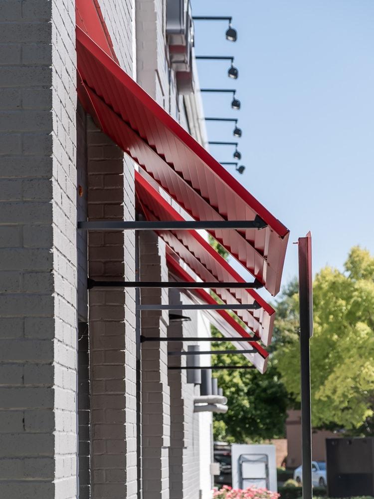 Awnex - Aluminum Bahama Shutters - KFC - Alpharetta, Georgia