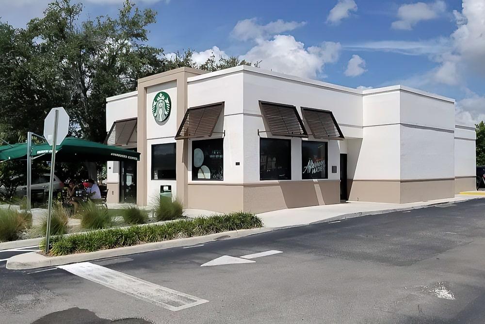 Awnex - Aluminum Bahama Shutters - Starbucks - Deerfield Beach, Florida