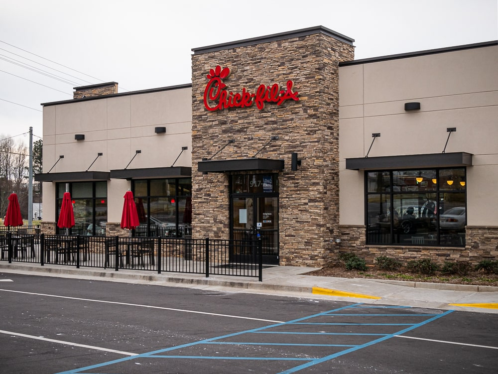 Awnex - Architectural Canopies - Chick Fil A - Laurens, South Carolina