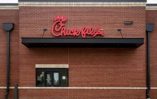 Awnex - Architectural Canopies - Chick Fil A - Omaha, Nebraska