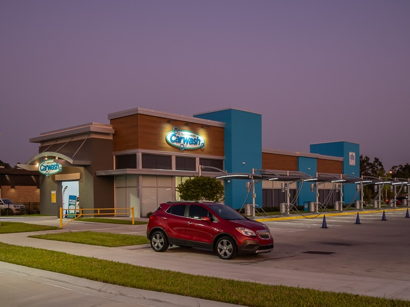 Awnex - Architectural Canopies - GATE Express Car Wash - Jacksonville, Florida