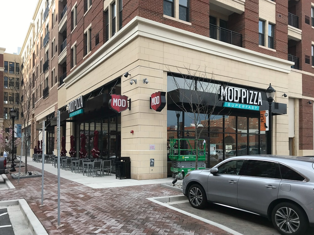 Awnex - Architectural Canopies - Mod Pizza - Baltimore, Maryland