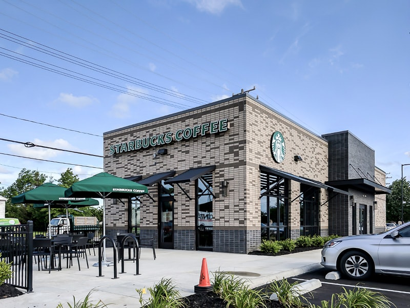Awnex - Architectural Canopies - Starbucks