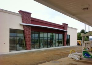 Awnex - Architectural Curved Canopy - BP - North Canton, Ohio