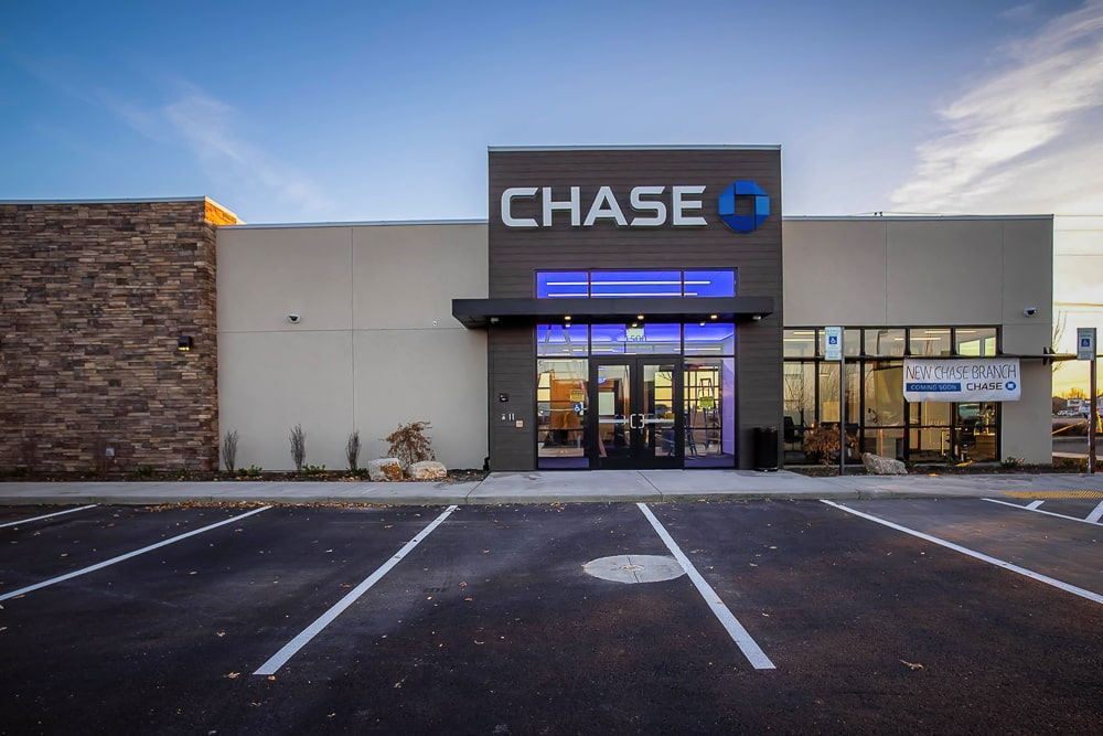 Cantilevered Architectural Canopies - Chase Bank - Eagle, Idaho