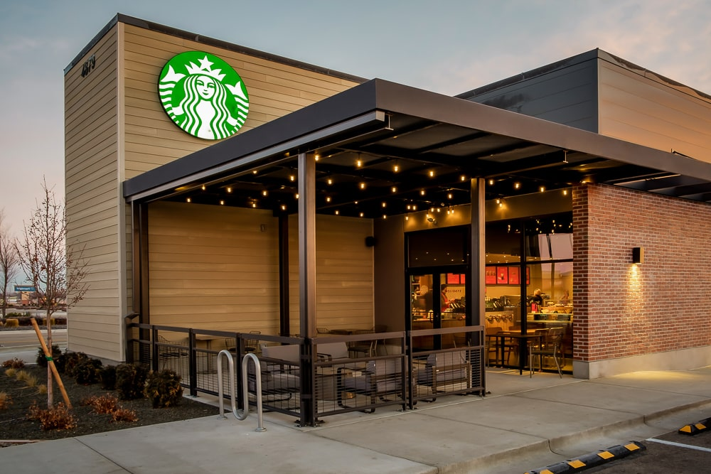Awnex - Commercial Aluminum Railing - Starbucks - Meridian, Idaho