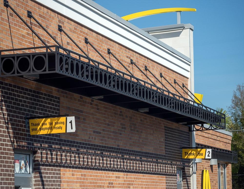 Awnex - Custom Architectural Canopies - McDonald's - Winter Park, Florida