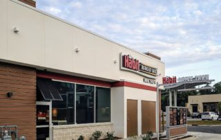 Awnex - Featured Bahama Shutters Project - Habit Burger Grill - Clemmons, North Carolina