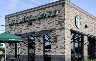 Awnex Featured Bahama Shutters Project - Starbucks - North Olmstead, Ohio