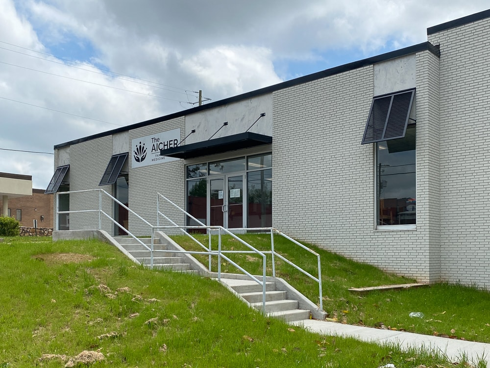 Awnex - Featured Bahama Shutters Project - The Aicher Clinic - Jasper, Georgia
