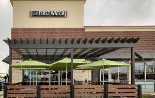 Awnex Featured Project - Aluminum Pergola - First Watch - McKinney, Texas