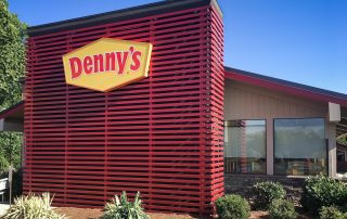 Awnex Featured Project -Architectural Aluminum Wall Screens - Denny's - Greenville, South Carolina