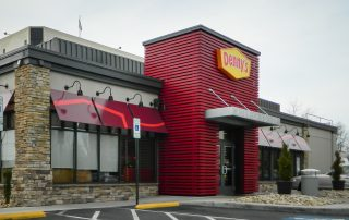 Awnex Featured Project -Architectural Aluminum Wall Screens - Denny's - Norfolk, Virginia
