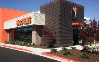 Awnex Featured Project -Architectural Aluminum Wall Screens - Hooters - Little Rock, Arkansas