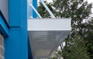 Awnex Featured Project, Architectural Canopies - Columbia Self Storage - Clifton, New Jersey