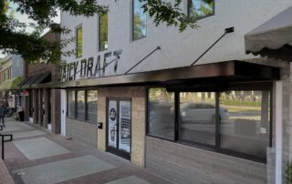 Awnex Featured Project, Architectural Canopies - The Daily Draft - Woodstock, Georgia
