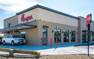 Awnex Featured Project - Architectural Gutter Canopies - Chick-Fil-A - Plymouth, Massachusetts