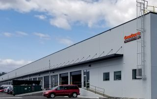 Awnex Featured Project - Architectural Gutter Canopies - GranQuartz - Seattle, Washington.