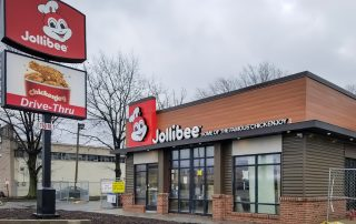 Awnex Featured Project - Architectural Gutter Canopies - Jollibee - Houston, Texas