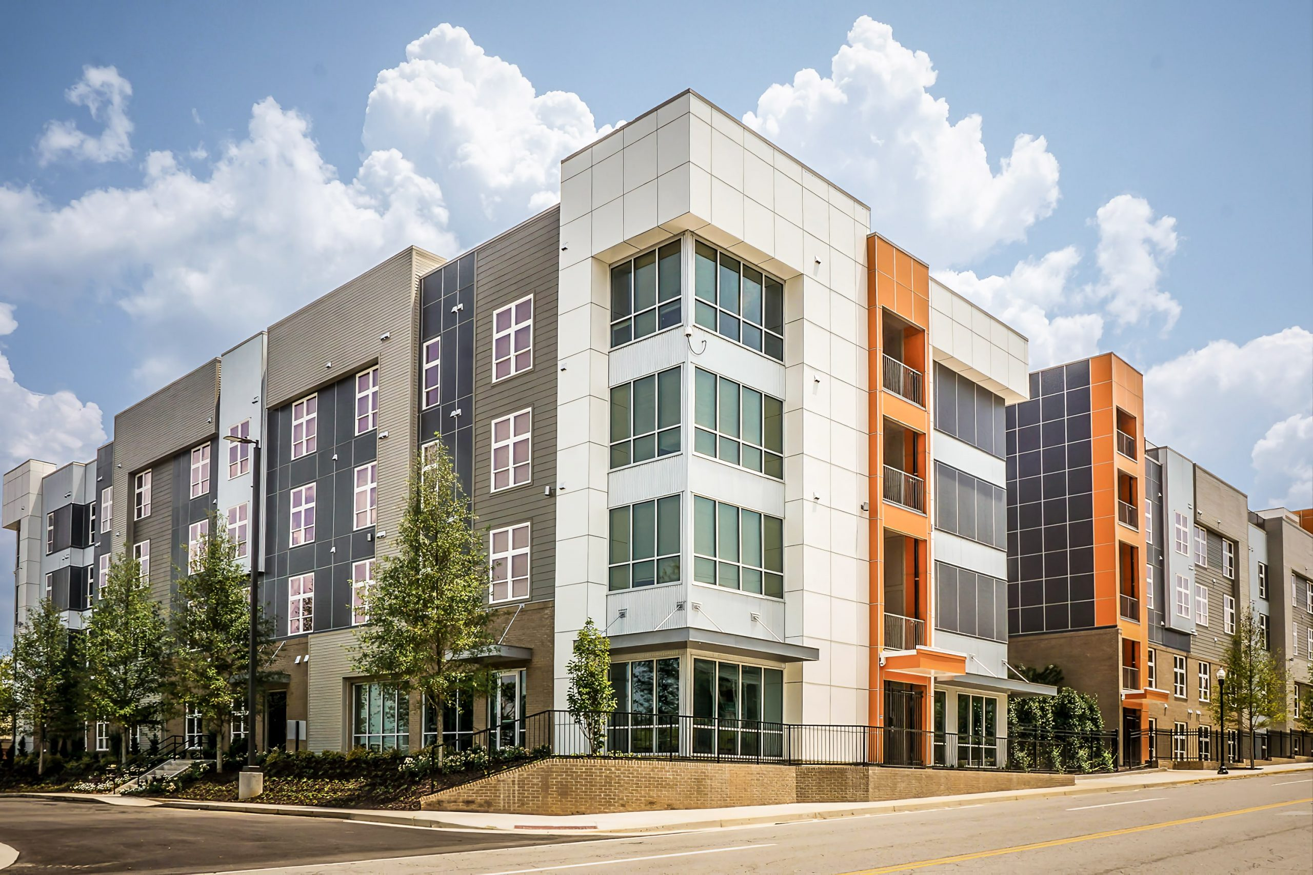 Awnex Featured Project - Architectural Gutter Canopies - Lofts at College Hills - Macon, Georgia