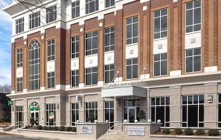 Awnex Featured Project - Architectural Gutter Canopies - Office-Building - Rock Hill, South Carolina