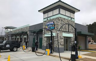 Awnex Featured Project - Architectural Gutter Canopies - Twins Car Wash - Jasper, Georgia.