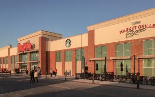 Awnex Featured Project - Architectural Gutter Canopies -hyVee - Coralville, Iowa