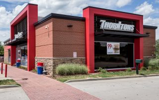 Awnex Featured Project, Hanger Rod Canopies, Thorntons - Murfreesboro, TN