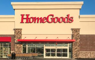 Awnex Featured Project - Homegoods - Hanger Rod Canopies - Evansville, Indiana