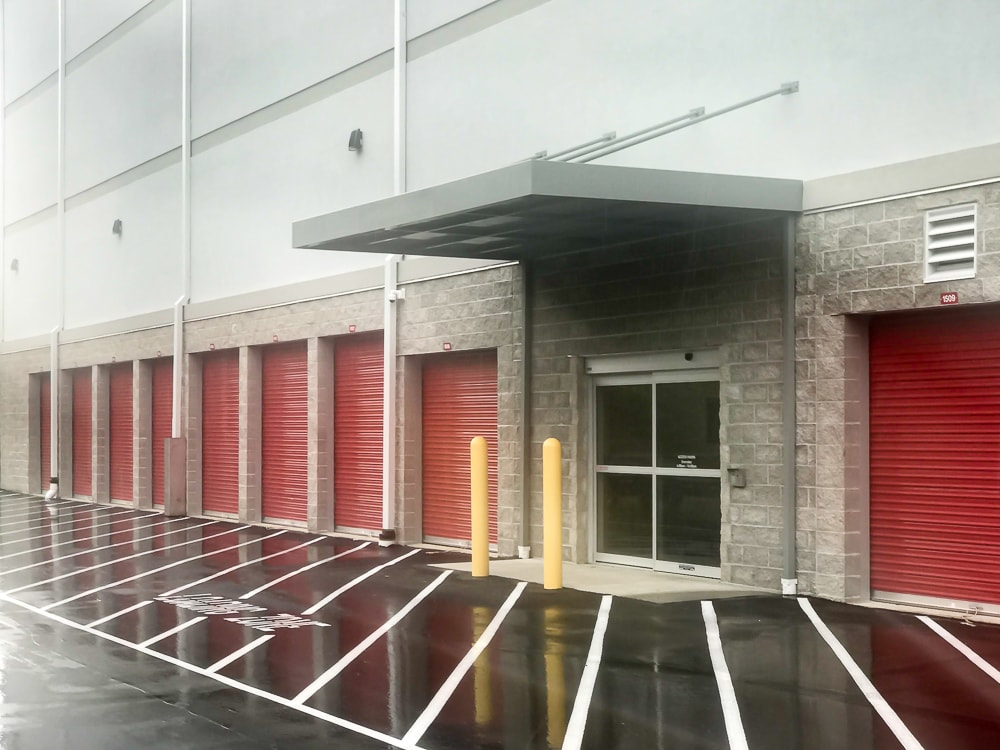 Awnex Featured Project - Hanger Rod Gutter Architectural Canopies - CubeSmart - Pittsburgh, Pennsylvania