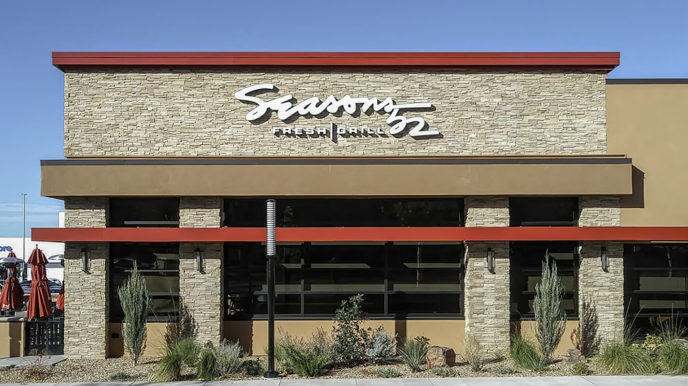 Awnex - prefabricated Architectural canopies - Seasons 52 - Albuquerque, New Mexico
