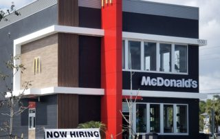 Awnex - Prefabricated Architectural Canopies - McDonald's - Fort Myers, Florida