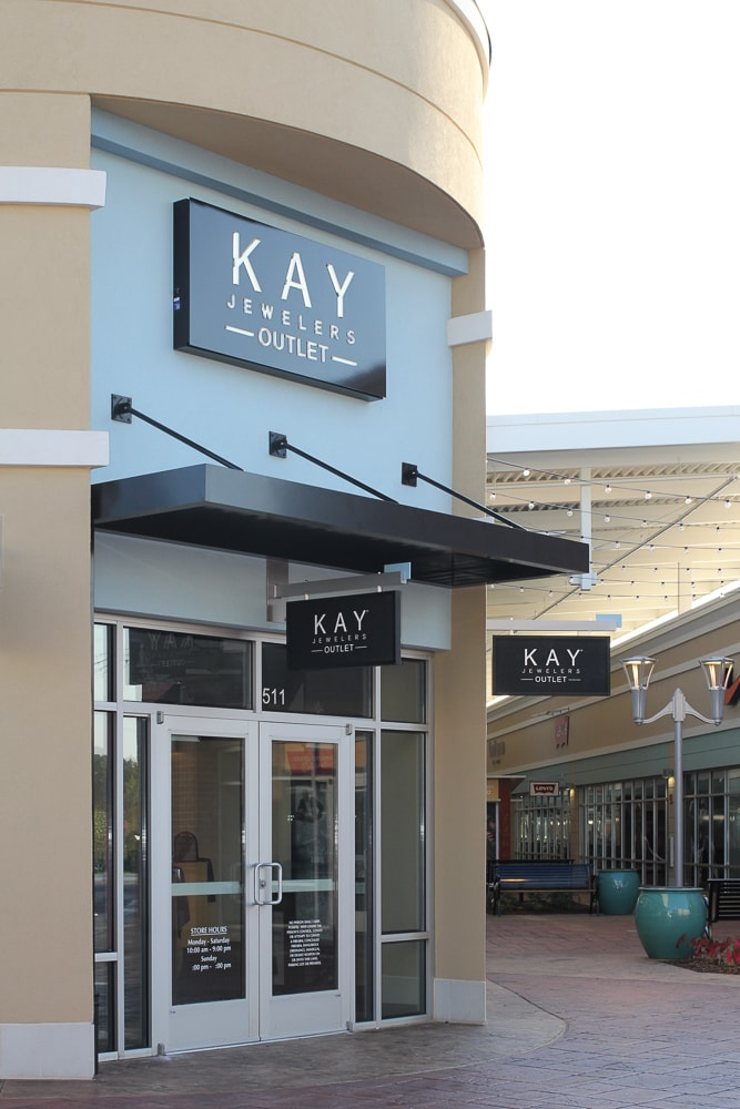 Awnex - Prefabricated Architectural Canopies - The Outlet Shoppes at Atlanta -Woodstock, Georgia