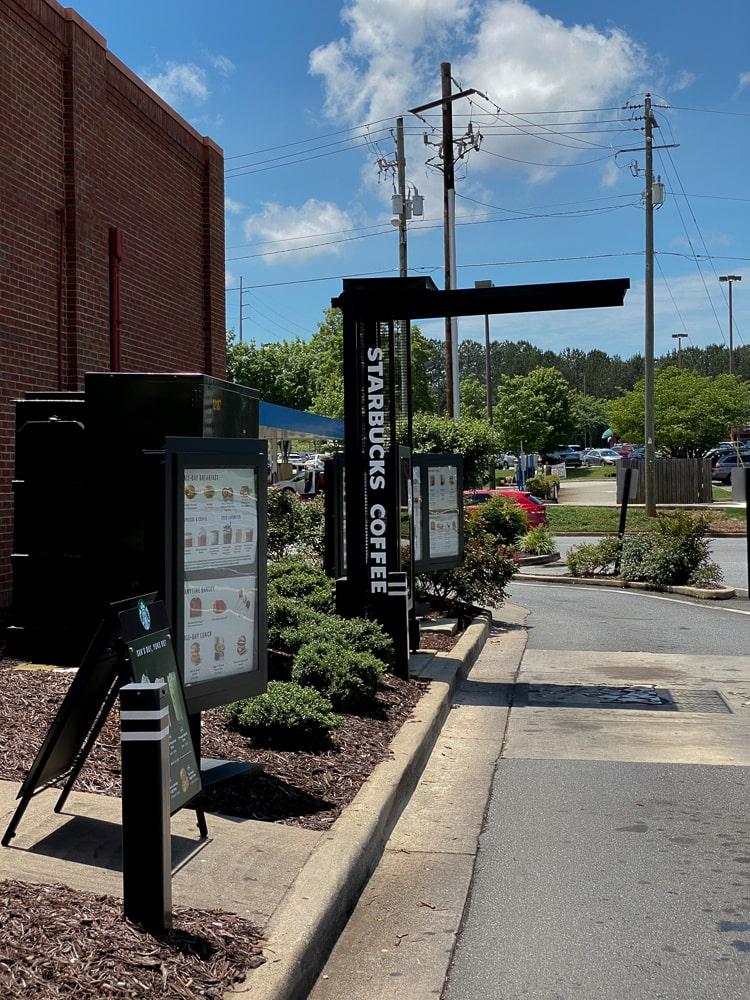 Awnex -Drive Thru Canopy - Starbucks - Woodstock, Georgia