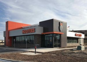 Awnex - prefabricated Architectural canopies - Hooters - Portage, Indiana