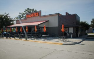 Awnex - prefabricated Architectural canopies - Hooters - Savannah, Georgia