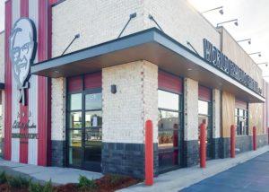Awnex - prefabricated Architectural canopies - KFC -Rincon, Georgia