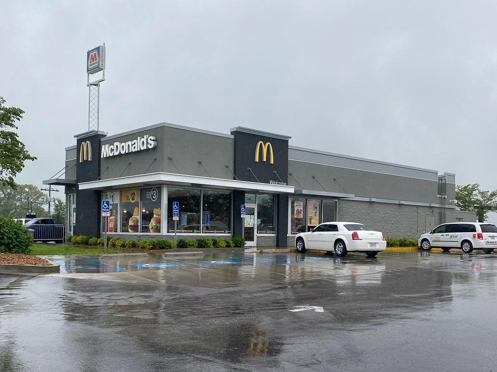 Awnex - prefabricated Architectural canopies - McDonald's - Cadiz, Kentucky
