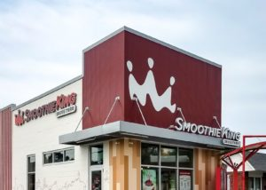 Awnex - prefabricated Architectural canopies - Smoothie King -Marion, Illinois