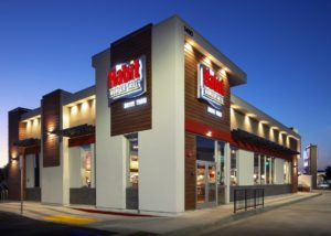 Awnex - prefabricated Architectural canopies - The Habit Burger - Gardena, California