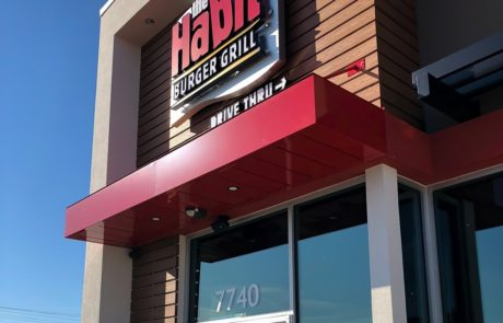 Awnex - prefabricated Architectural canopies - The Habit Burger - Indian Land, South Carolina